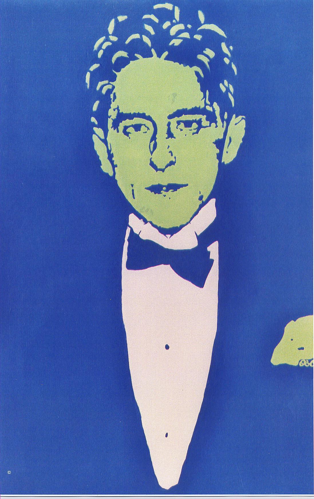 Jean Cocteau (Acrylique toile) - http://marina.oboe.free.fr