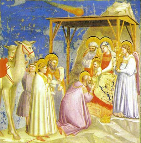 Rois Mages et Nativité  par Giotto