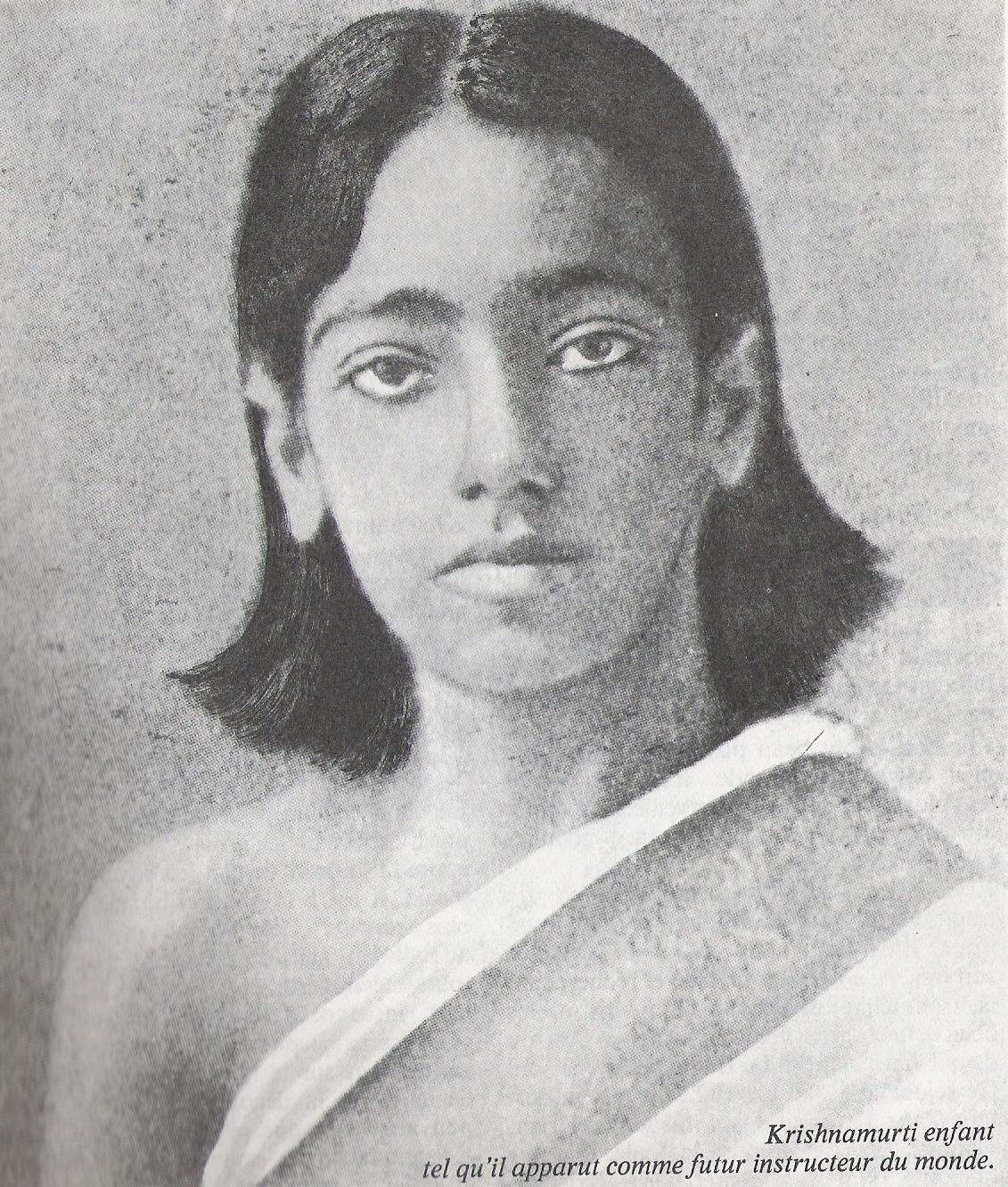 Jiddu Krishnamurti jeune