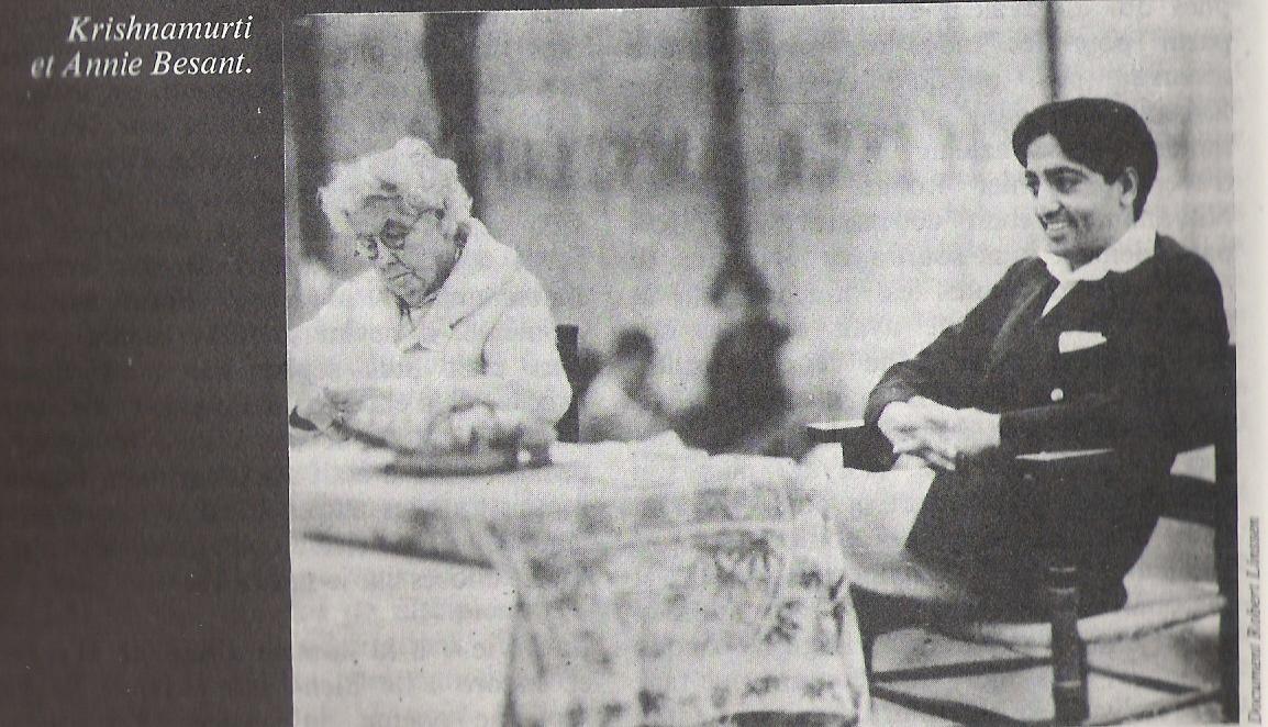 Krishnamurti et Annie Besant