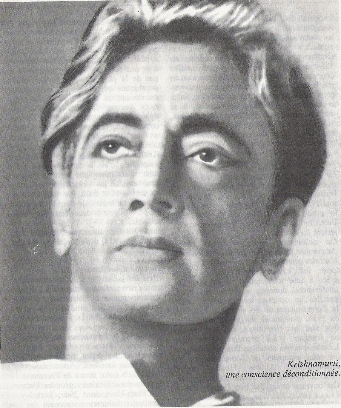 Krishnamurti une conscience déconditionnée