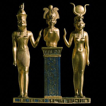 Triade divine égyptienne (Osiris, Isi, Horus) - www.ac-nancy-metz.fr
